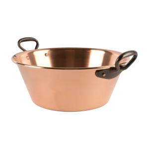 Kupfer Marmeladentopf geeignet für den Induktionsherd Ø 26,5 cm - 3 Liter - Glatt - Dickwandig