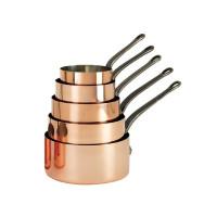 Inocuivre 2 mm Kupfer Edelstahl Kasserolle  Ø 14 cm H 7,8 cm 1,2 Liter Gusseisen