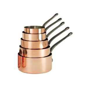 Inocuivre 2 mm Kupfer Edelstahl Kasserolle Ø 20 cm H 10,8 cm 3,3 Liter Gusseisen