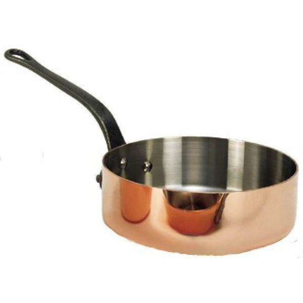 Inocuivre 2 mm Kupfer Edelstahl Sauteuse Ø 24 cm H 7,5 cm 3,1 Liter  Gusseisen