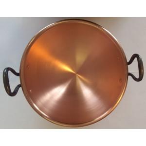 Schlagschüssel, Eiweißschüssel aus Kupfer Dickwandig mit Gusseisen griffen Ø 20 cm 1,5 Liter
