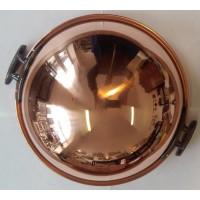 Schlagschüssel, Eiweißschüssel aus Kupfer Dickwandig  mit Gusseisen griffen Ø 26 cm 3 Liter