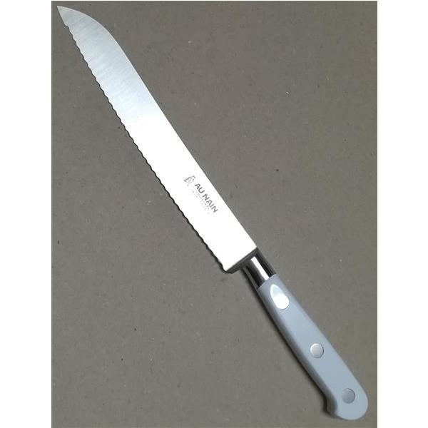 """Au Nain geschmiedete Messer """"Ideal"""" Weiß Brotmesser 20cm"""