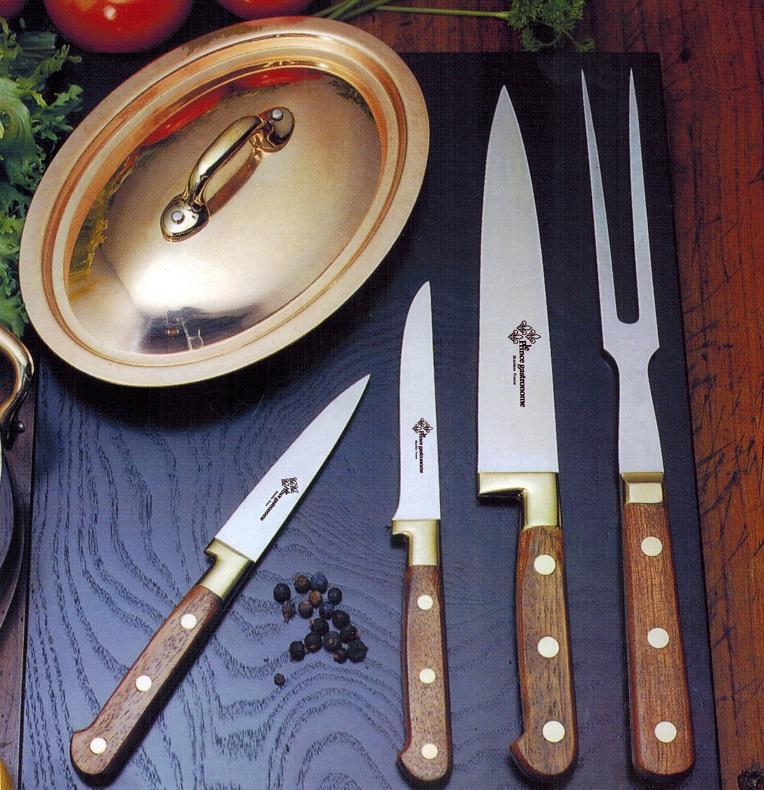 Kuchenmesser aus Edelstahl Messing und Palisander Holz